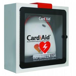 Hjertestarter - KS Førstehjælp - indendørsskab med alarm